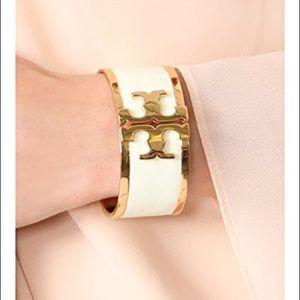 NWT Tory Burch Enamel Logo Wide Cuff Bracelet